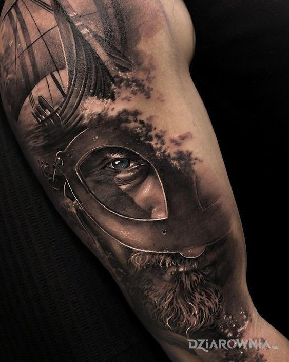 Tatuaż wiking - realistyczne