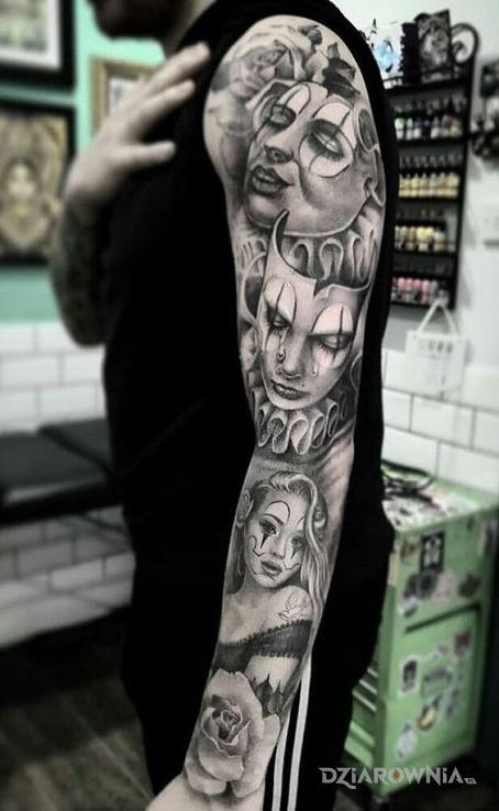 Tatuaż klauny - rękawy