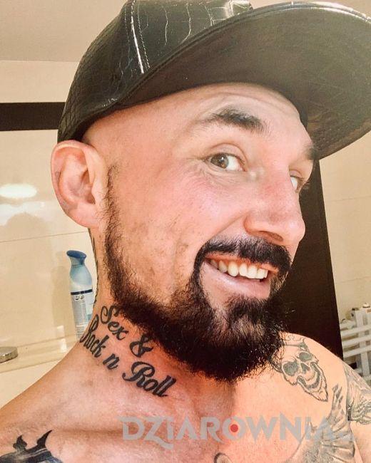 Nowy Tatuaż Na Szyi Patryka Vegi Dziarowniapl