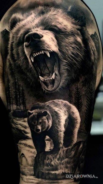 Tatuaż misiek - realistyczne