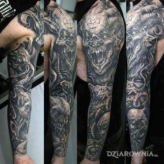 Tatuaż diabły - demony