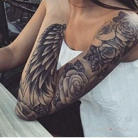 Róże i skrzydło