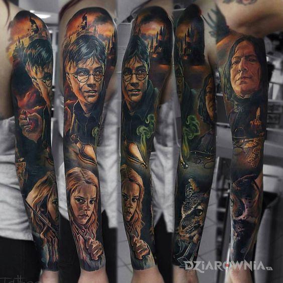 Tatuaż harry potter - realistyczne