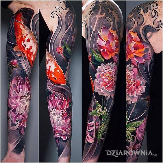 Tatuaż karp koi - zwierzęta