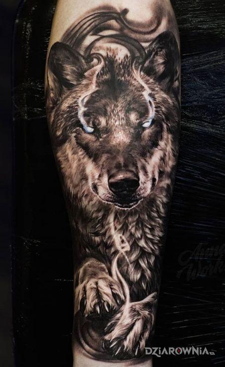 Tatuaż magiczny wilk - zwierzęta