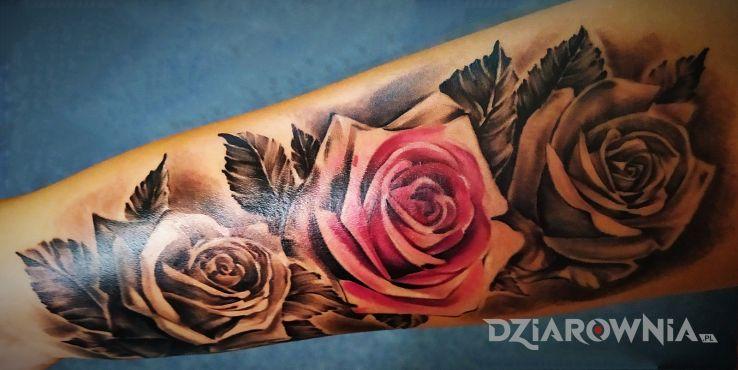 Tatuaż róże d - kwiaty