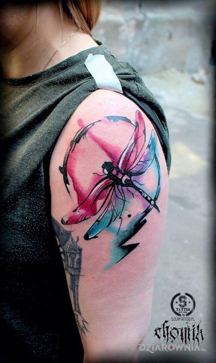 Tatuaż Ważka Autor Szerytattoo Dziarowniapl
