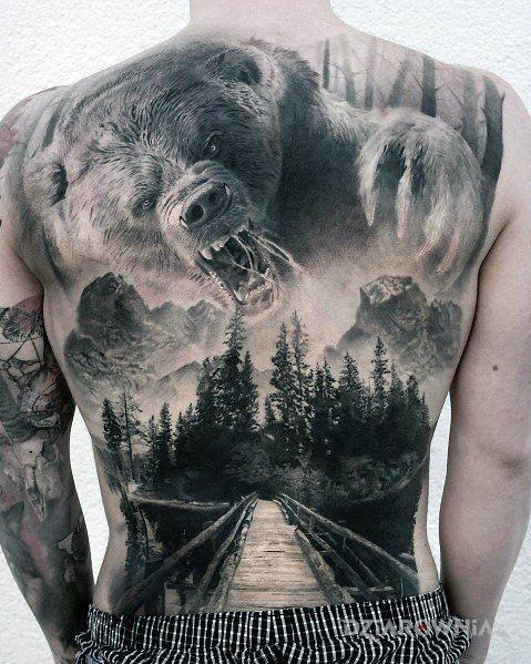 Tatuaż mad bear - zwierzęta