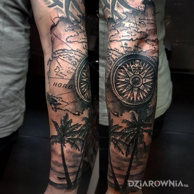 Tatuaż compas - pozostałe