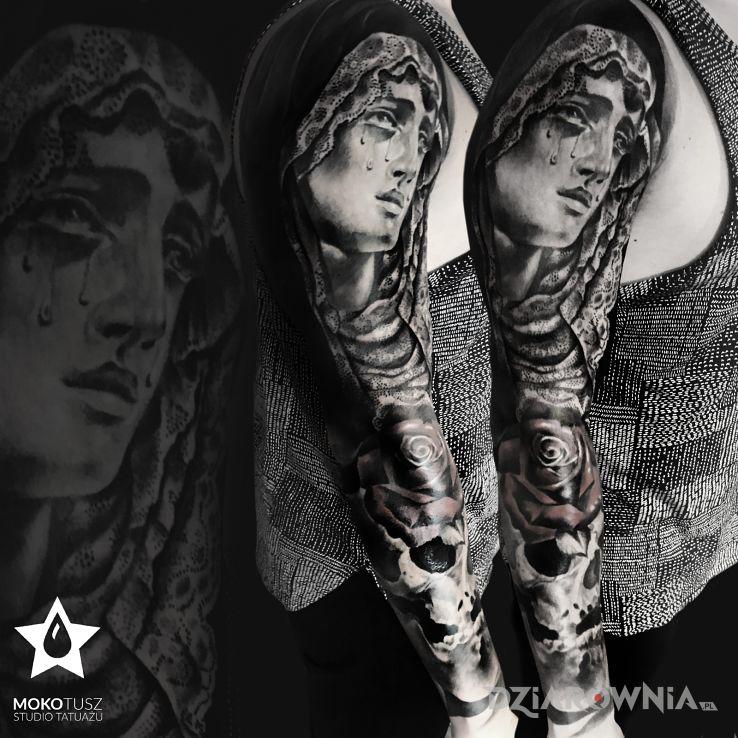 Tatuaż anioły i demony - rękawy