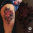 Róża z mandalą