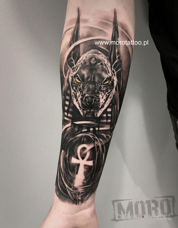 Tatuaż Anubis Od Igoryoshi Autor Justb Dziarowniapl