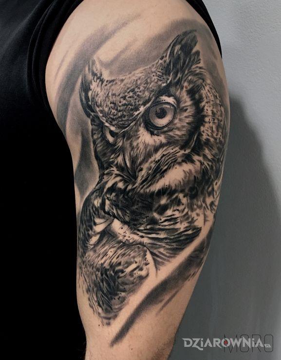 Tatuaż Sowa Autor Studio Moro Wrocław Dziarowniapl