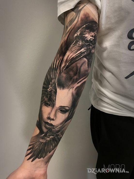 Tatuaż rekaw - demony