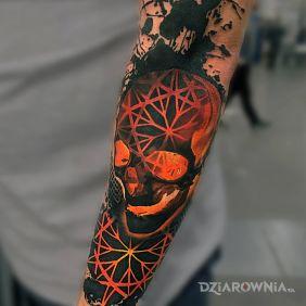 Pomarańczowa czaszka
