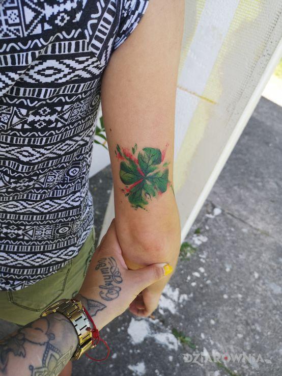 Tatuaż Koniczynka Autor Ula Sidoruk Dziarowniapl